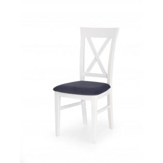 BERGAMO krzesło biało-granatowe (1p 2szt)