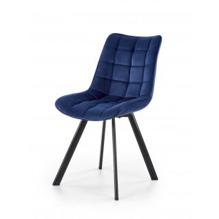 K332 krzesło nogi - czarne, siedzisko - granatowy (1p 2szt)
