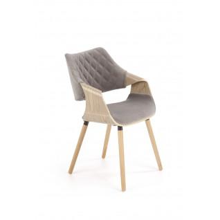K396 krzesło jasny dąb / popielaty (1p 1szt)