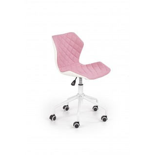 MATRIX 3 fotel młodzieżowy jasny różowy / biały