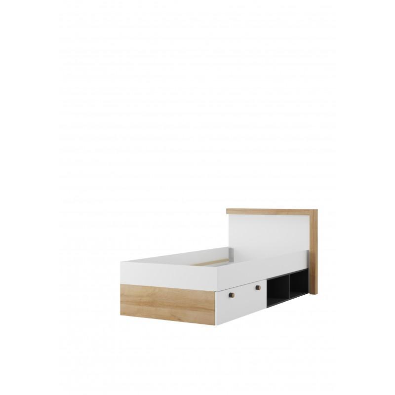 Łóżko z szufladą i regałem Riva Typ 50