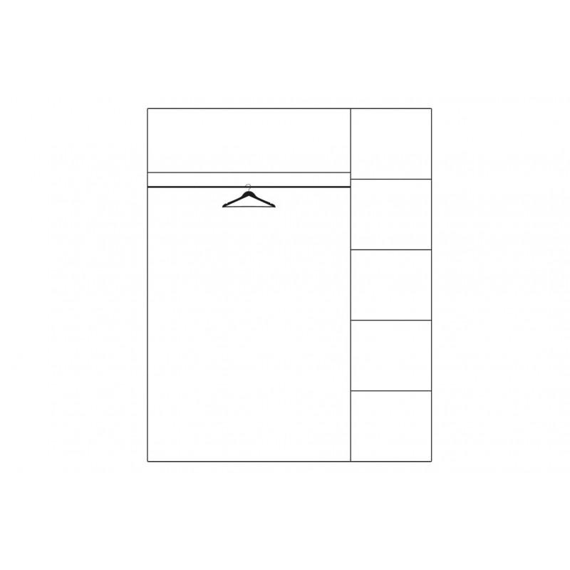 Szafa 3-drzwiowa Velvet Typ 73 Szynaka Meble Kolekcja Velvet