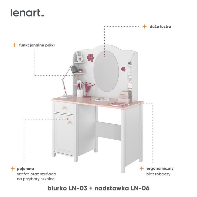 Biurko Luna LN-03 Lenart Kolekcja Luna