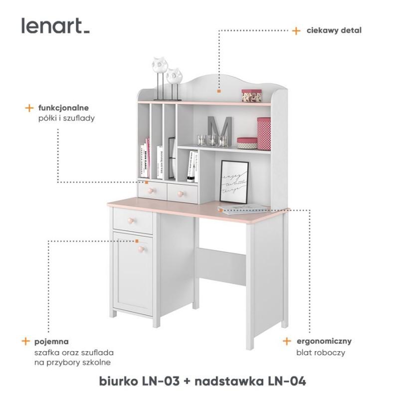 Nadstawka do biurka Luna LN-04 Lenart Kolekcja Luna