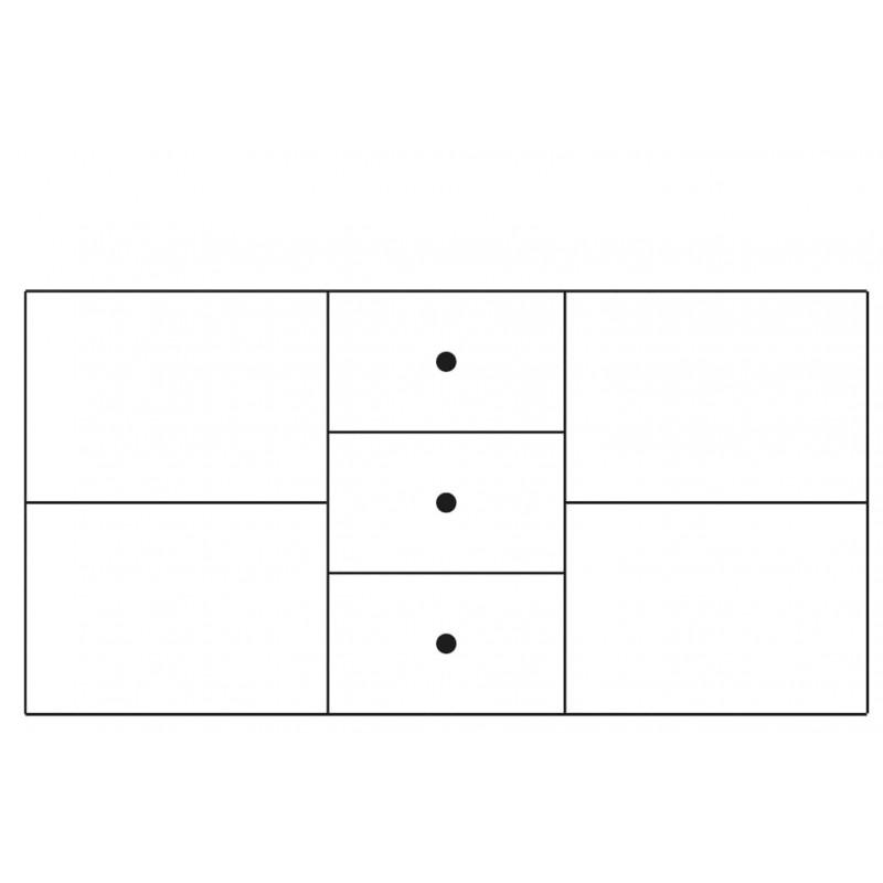 Komoda 2-drzwiowa z 3 szufladami Velvet Typ 47 Szynaka Meble