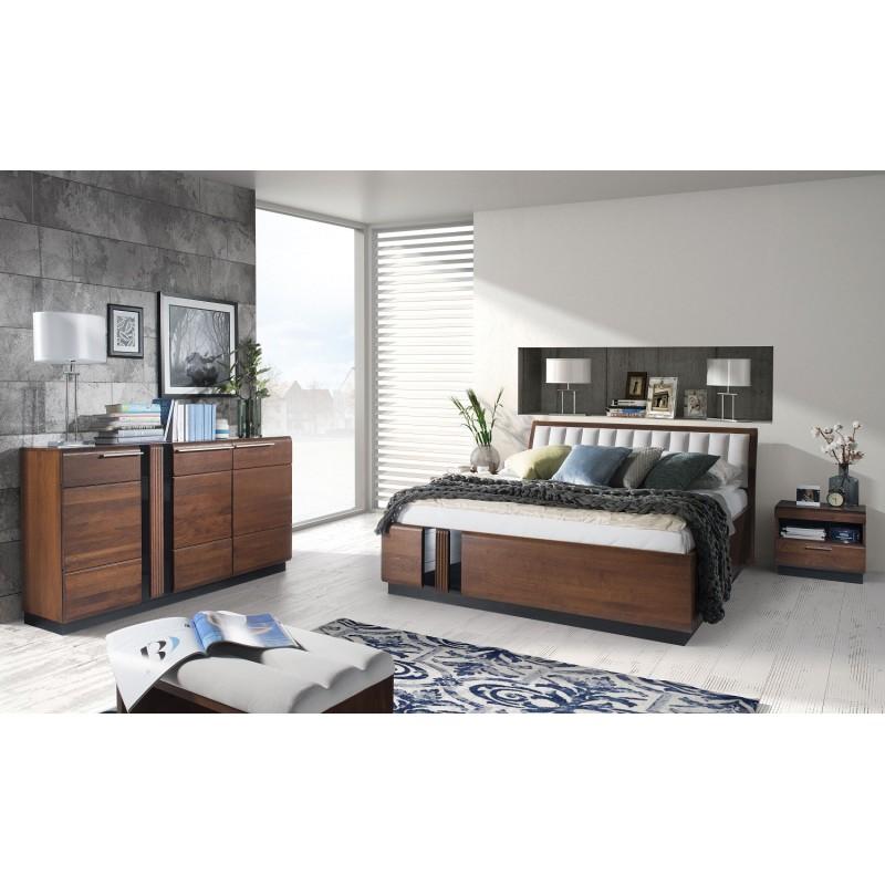 Łóżko z wezgłowiem Porti Typ 76 Szynaka Meble Kolekcja Porti