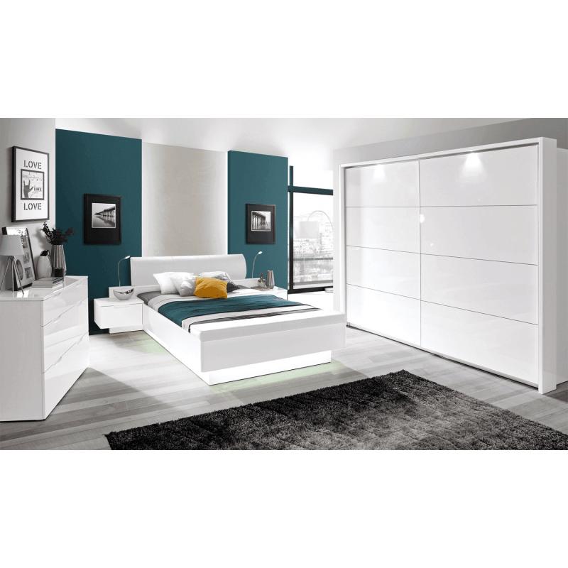 Łóżko Starlet White Typ STWL163 Meble Forte Kolekcja Starlet