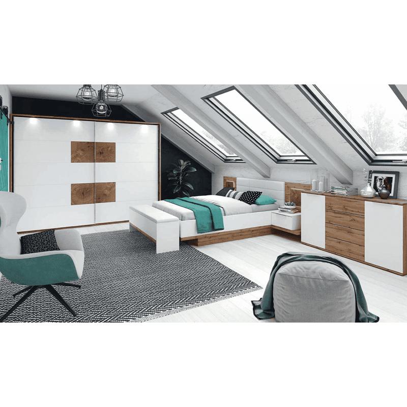 Łóżko pod materac Livorno Typ 66 Szynaka Meble Kolekcja Livorno