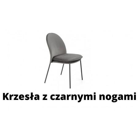 Krzesła z czarnymi nogami