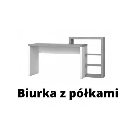 Biurka z półkami