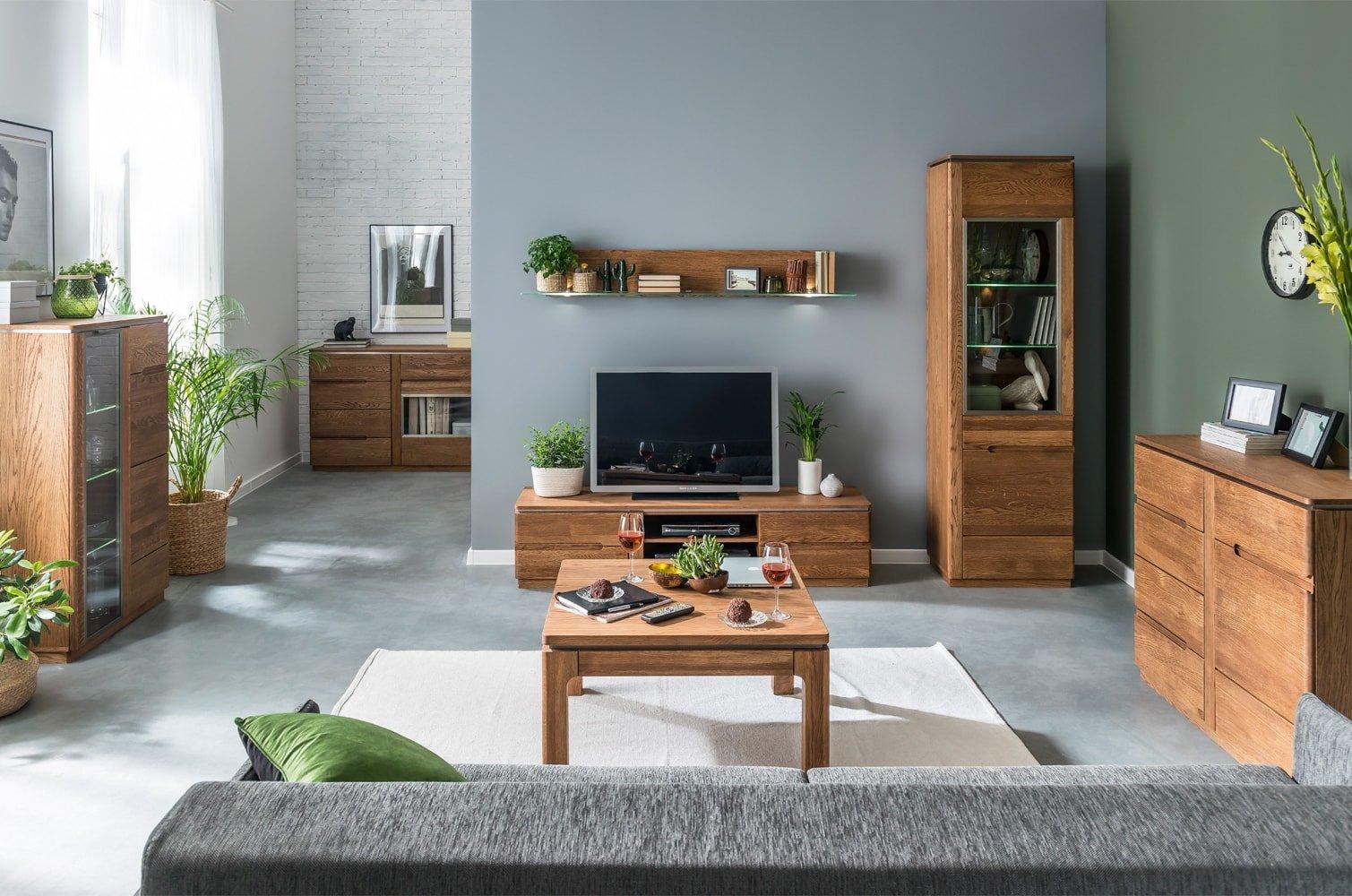 minimalistyczne drewniane meble do salonu montenegro