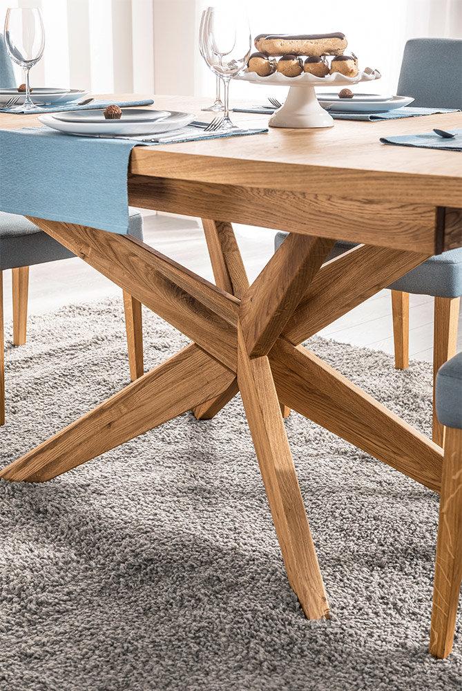 drewniany rozkładany stół velle detale