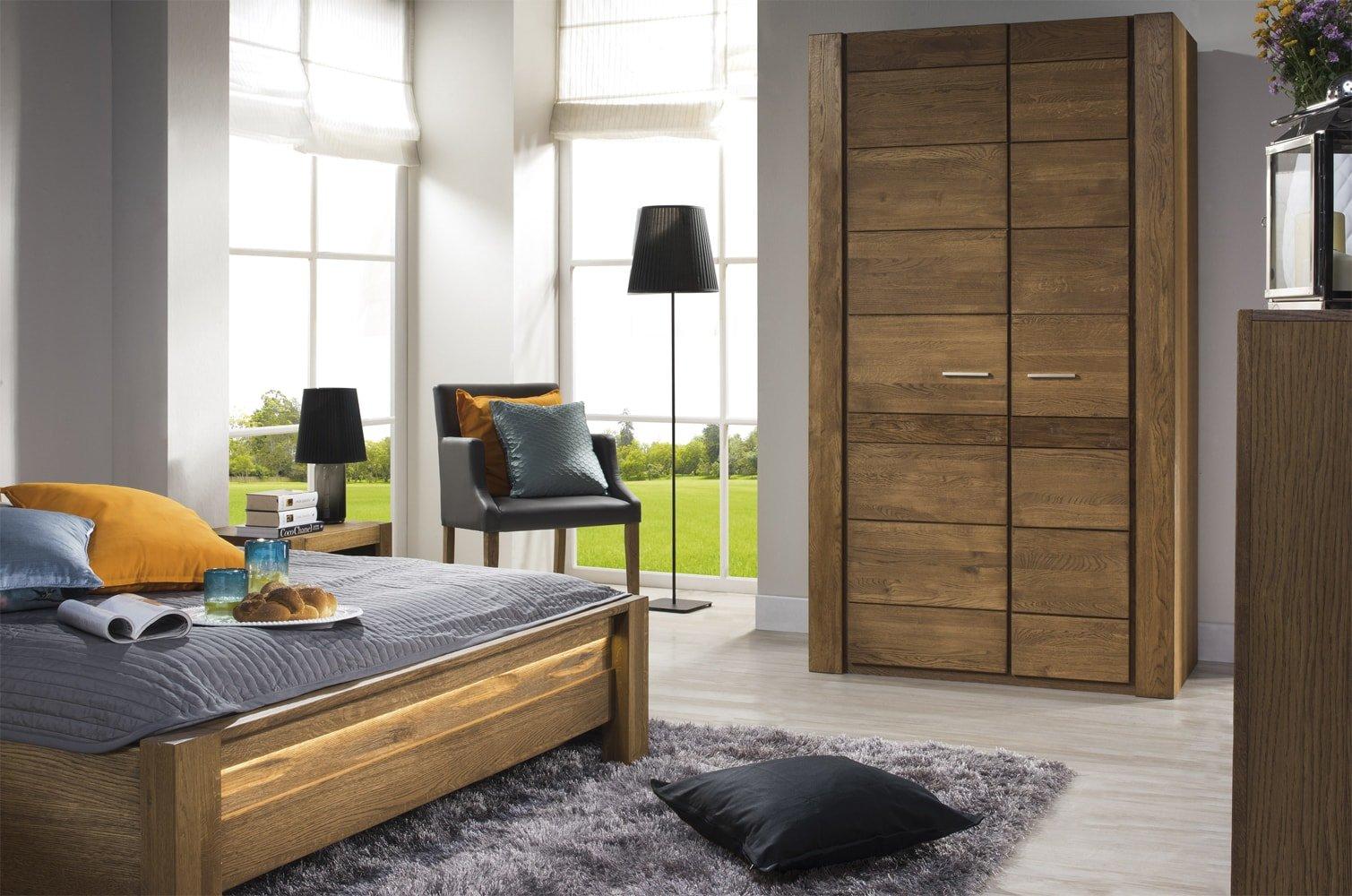 meble do sypialni z drewna w nowoczesnym stylu velvet